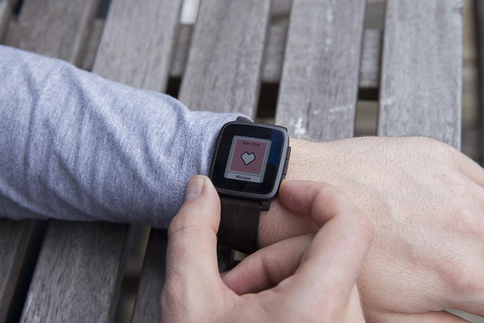 montre pebble watch app application smartwatch