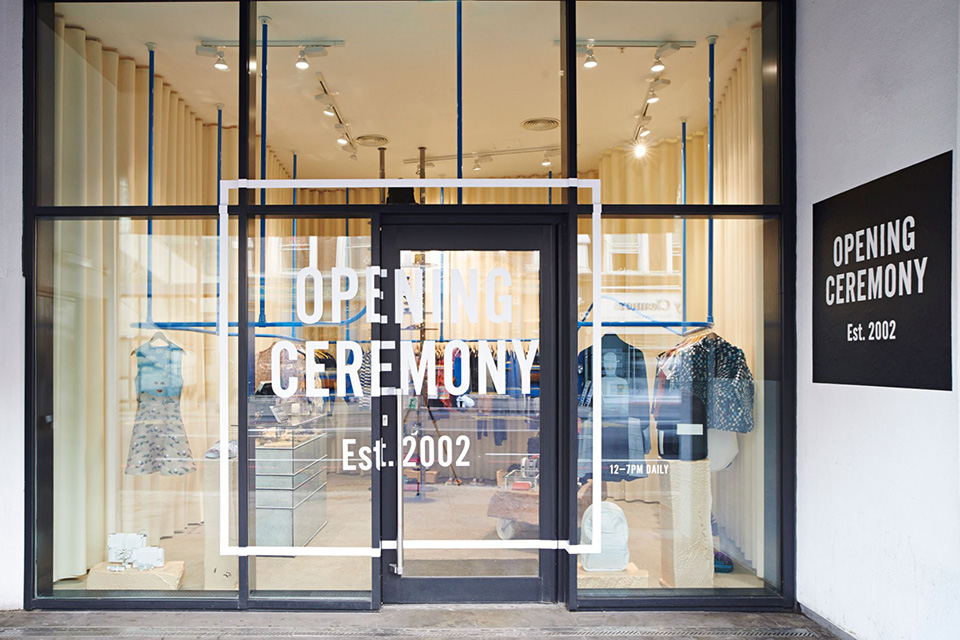 opening ceremony store shop