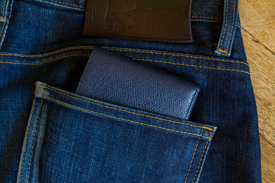 Portefeuille RSVP Paris poche jeans
