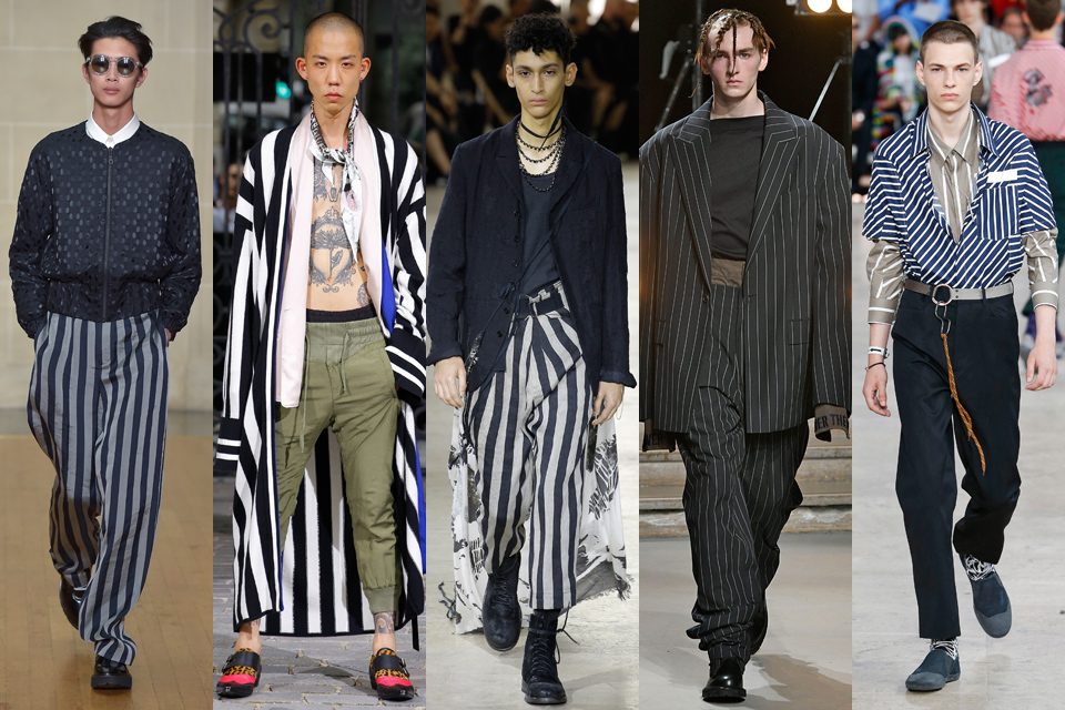 rayures homme paris fashion week
