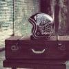 casque moto urbain city handpaint