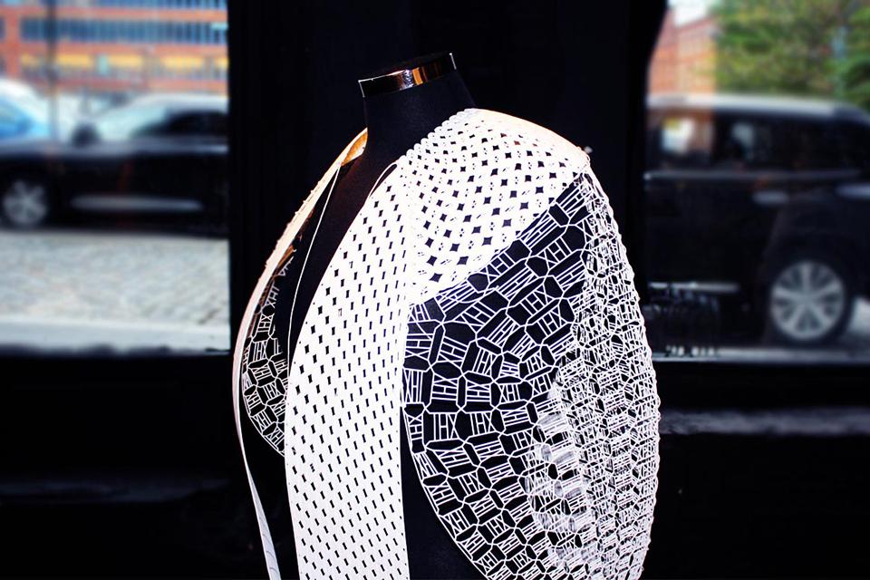 future fashion print 3D dress