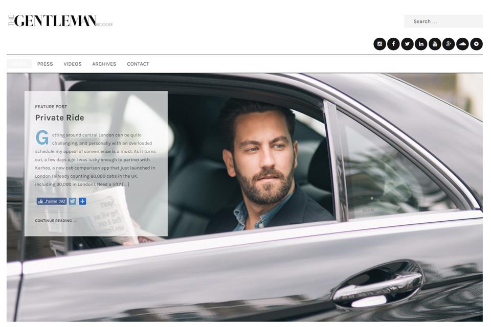 the gentlemen blogger blog anglais