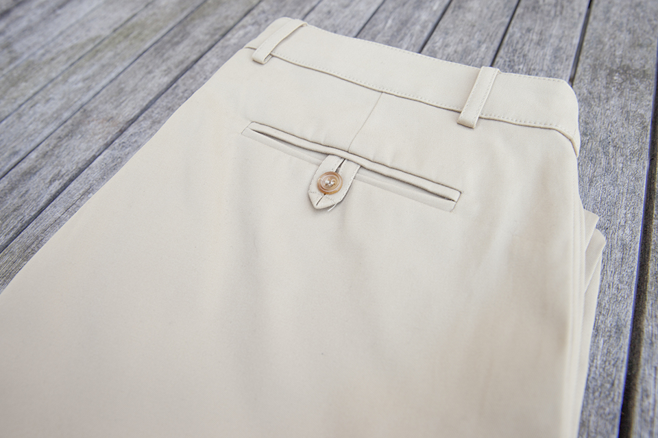 Chino Gatsby Close Poche Arriere