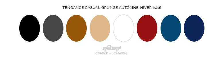 couleurs tendance casual grunge ah16