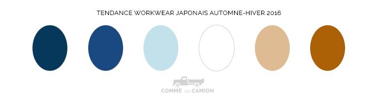 workwear japonais couleurs ah16