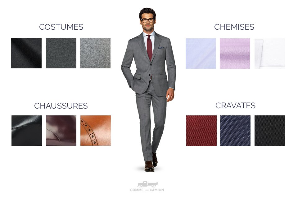 Infographie Costume Gris