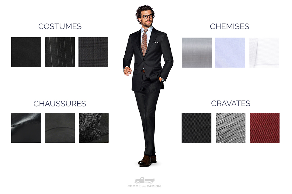 Infographie Costume Noir
