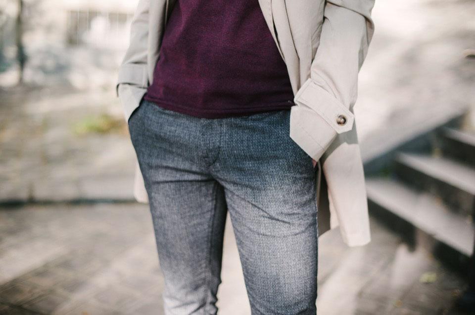 montmartre place du tertre pull edc bordeaux pantalon hugo boss