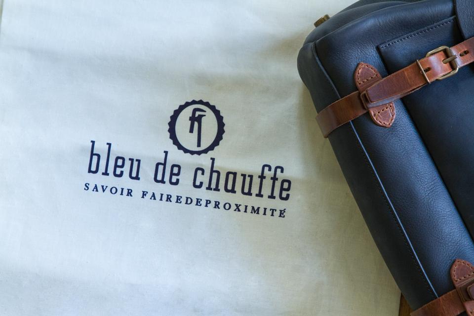 bleu de chauffe emballage sac tissu