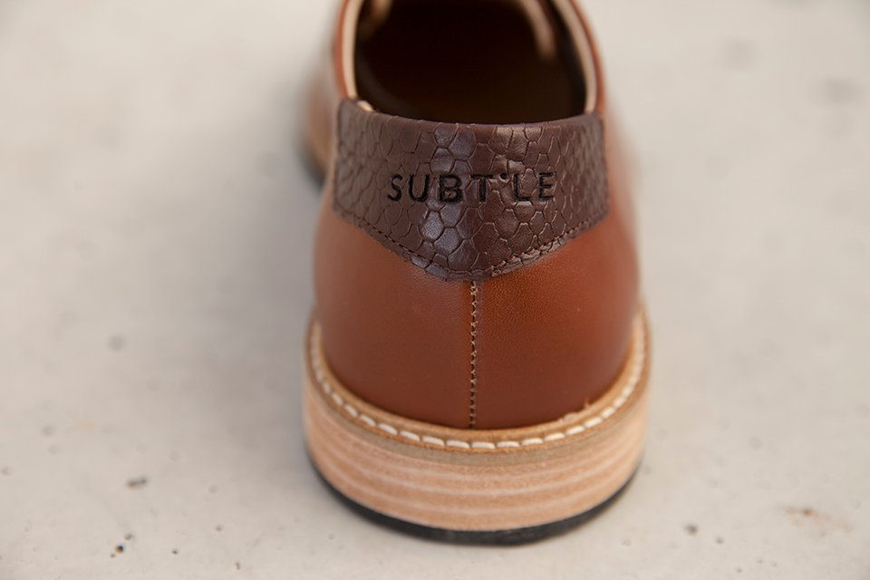 chaussures-subchaussures subtle shoes empiecement cuir