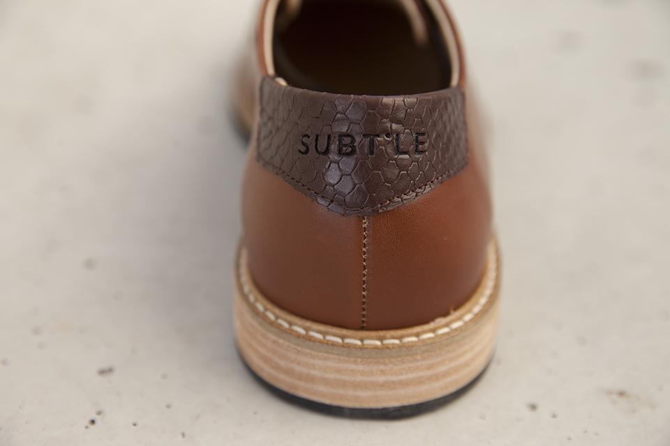 chaussures-subchaussures subtle shoes empiecement cuir