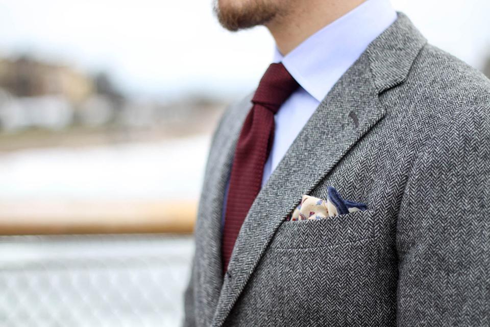 Chevron Costume Cravate