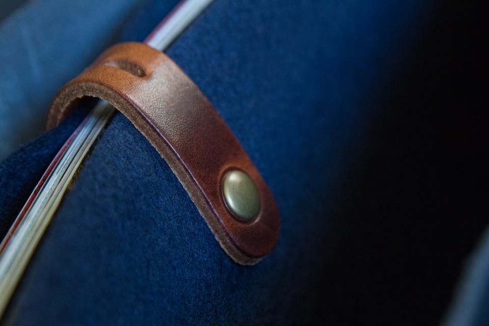 compartiment feutrine bleu de chauffe