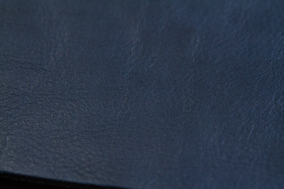 cuir tannage vegetal bleu de chauffe
