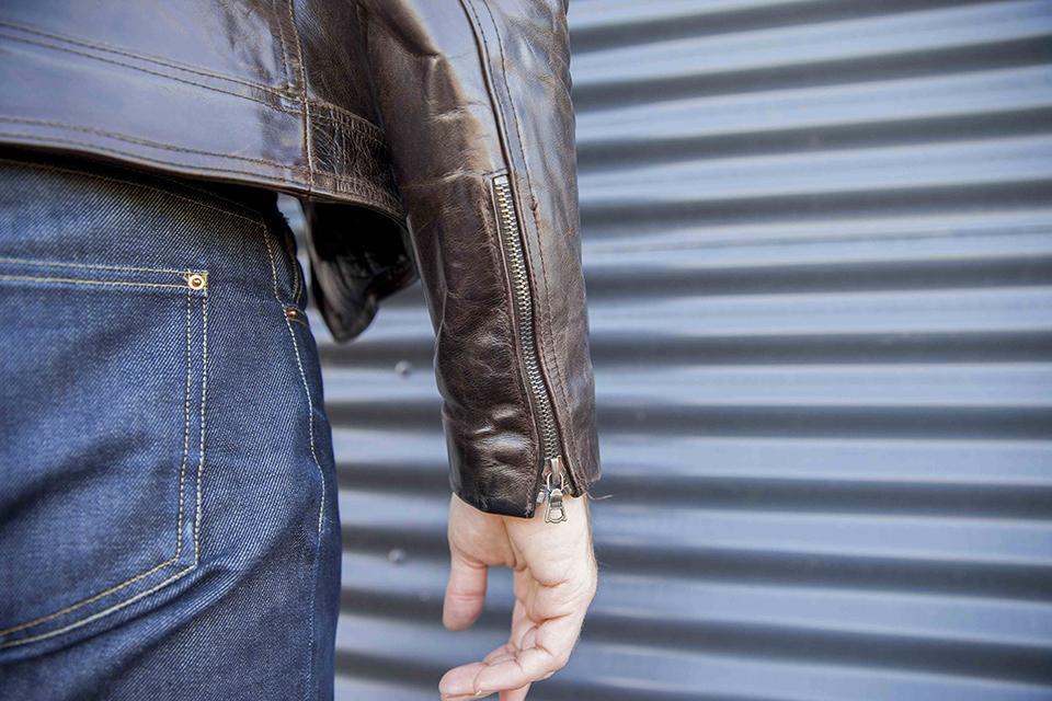 Blouson cuir zip
