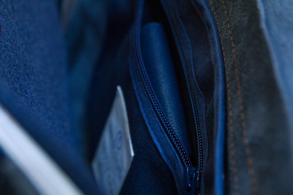poche interieure sac bleu de chauffe