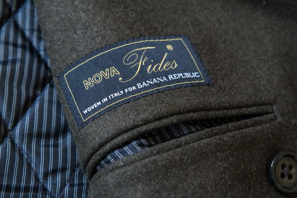tissu laine caban manteau