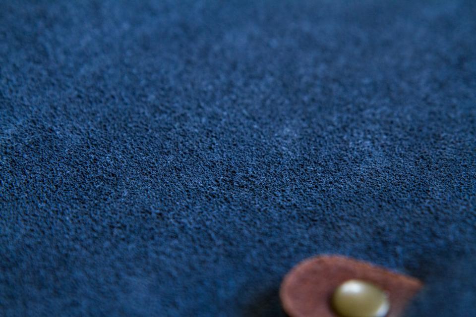 cuir retourne bleu de chauffe