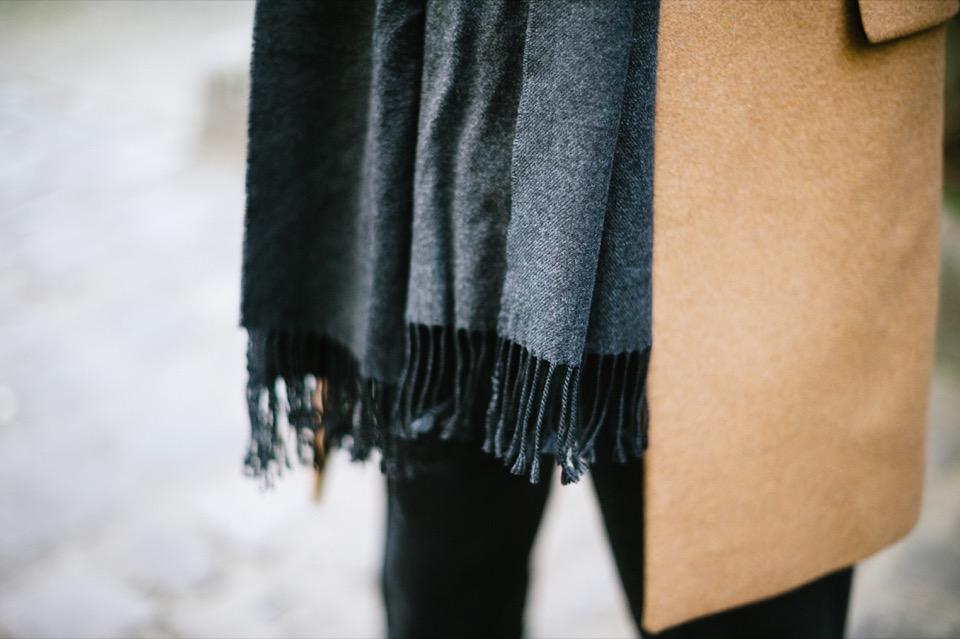 Manteau mode homme AMI Echarpe Dior