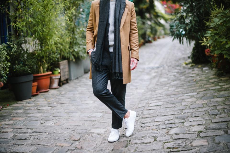 Manteau beige AMI Pantalon COS