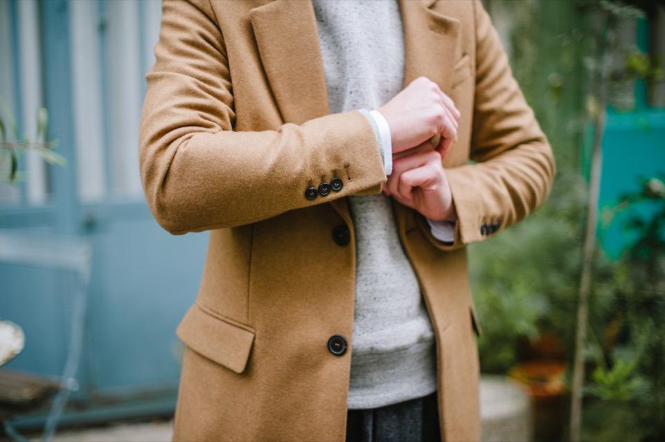 Manteau beige AMI