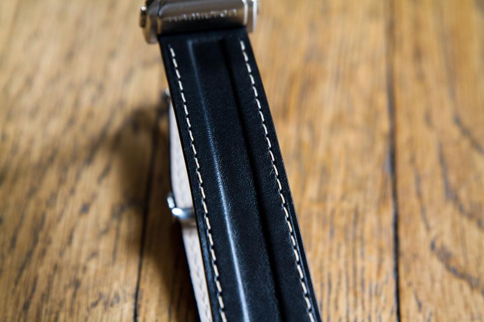 bracelet hamilton cuir noir
