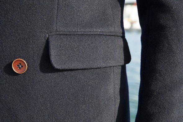cavalier bleu caban poche