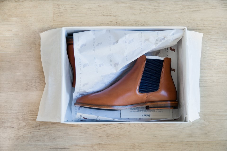 chelsea boots pied de biche
