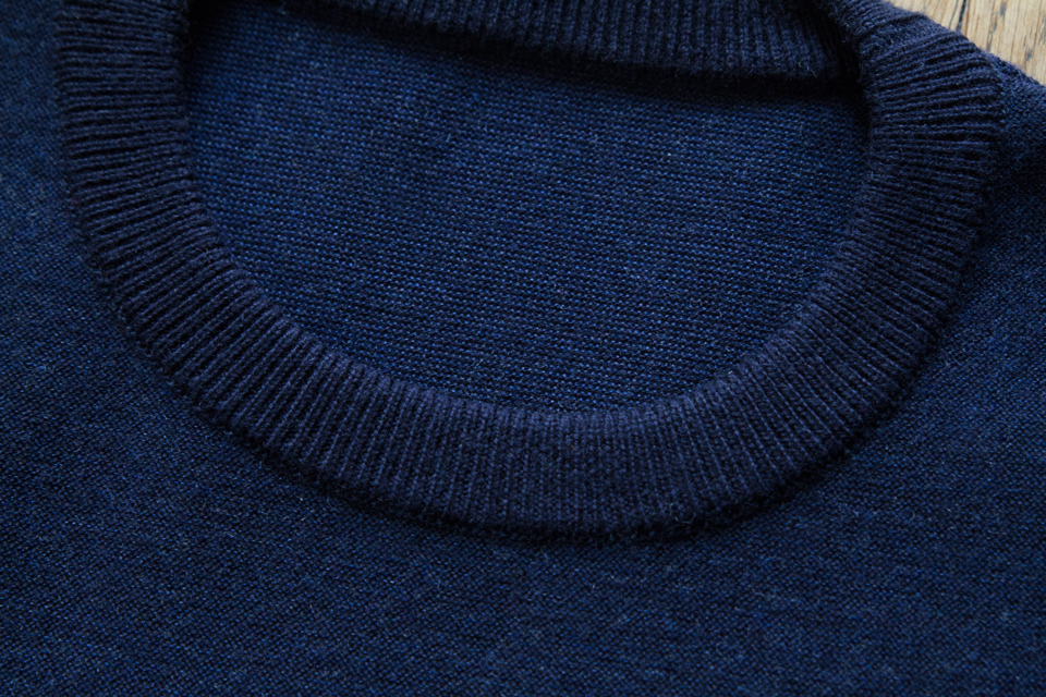 col rond pull laine asphalte