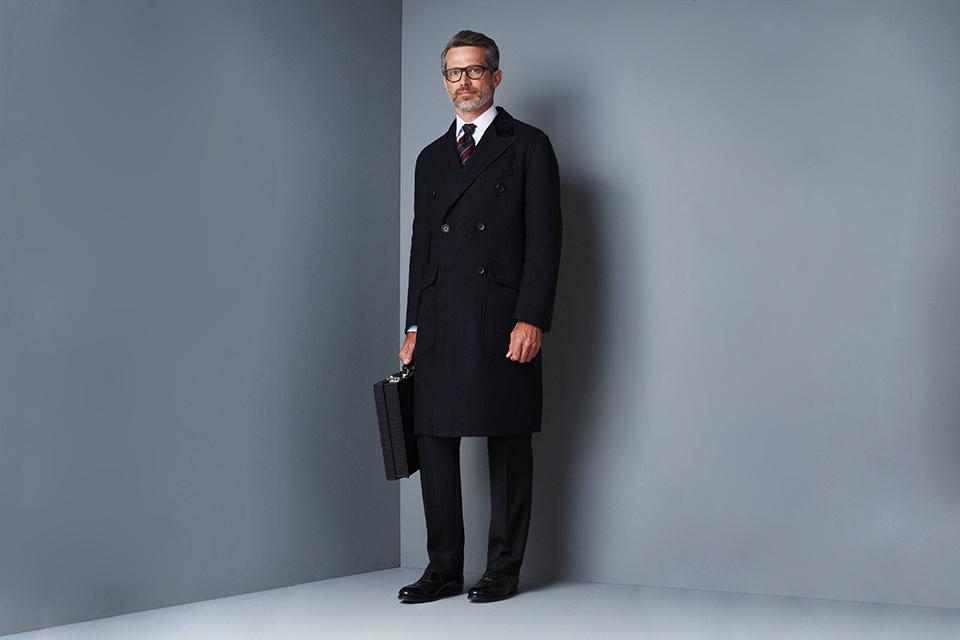 dunhill fw16 manteau long formel