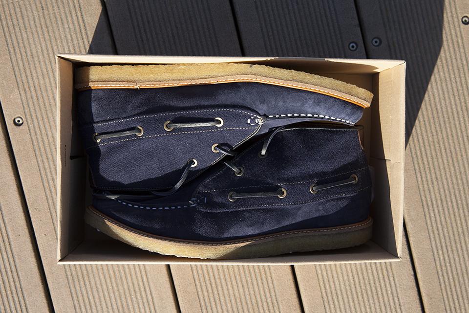Hacter Chaussures Bateaux Montantes Boite Dessus