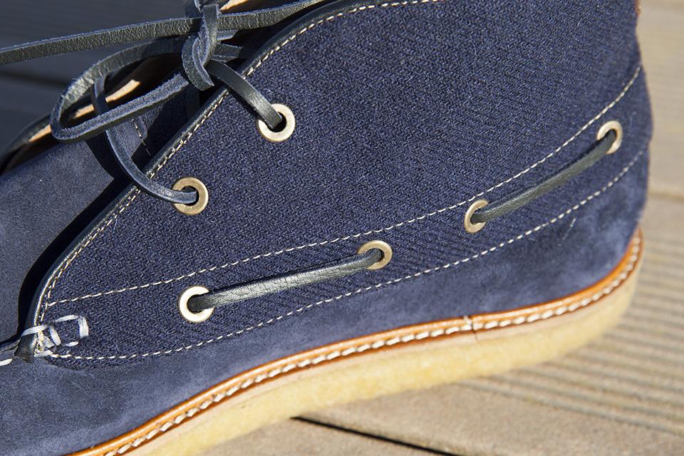 Hacter Chaussures Bateaux Montantes Lacets Lateraux