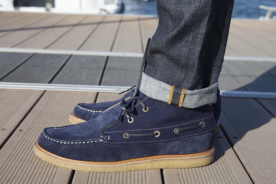 Hacter Chaussures Bateaux Montantes Porte Profil