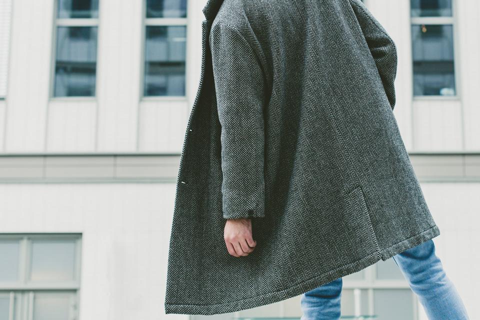 manteau a chevrons olow