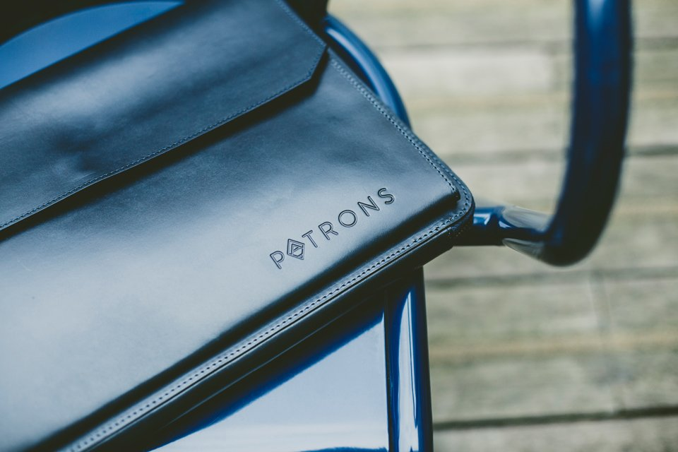 pochette porte document bleu patrons