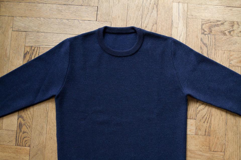 pull laine bleu marine asphalte
