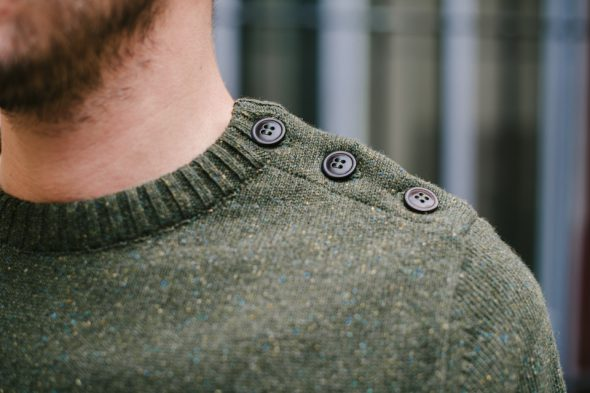 pull olow paimpol olive boutons