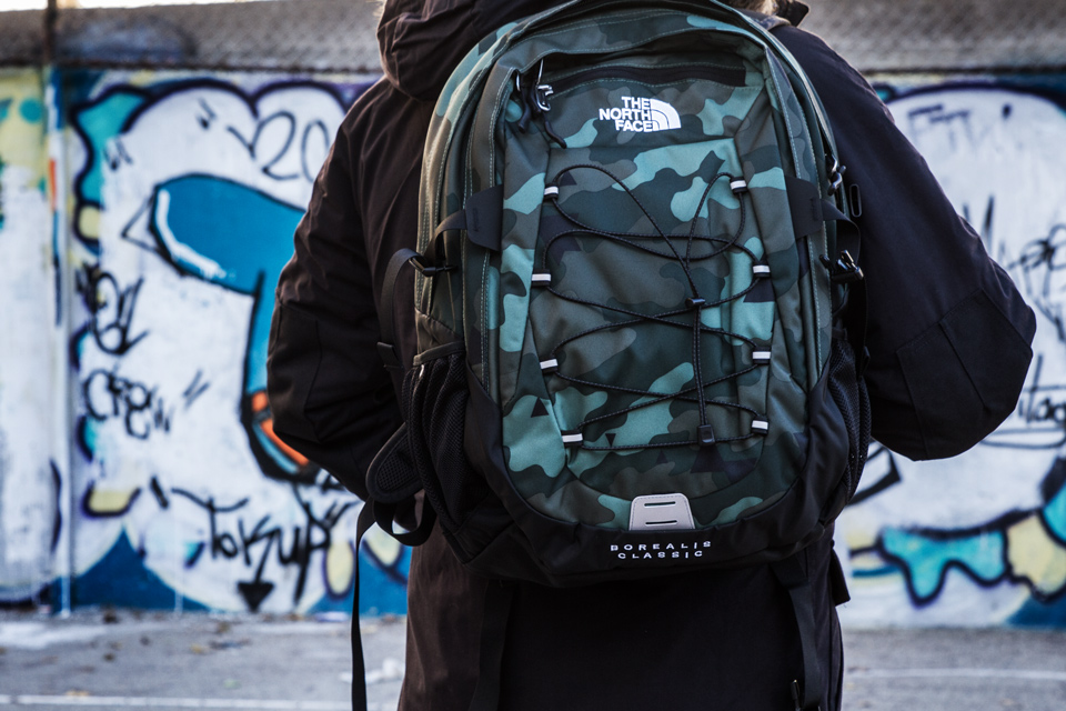 sac the north face camouflage