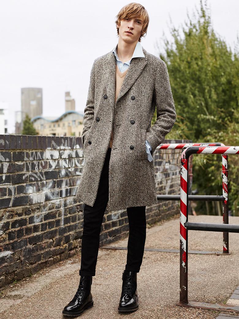 Zara manteau long homme