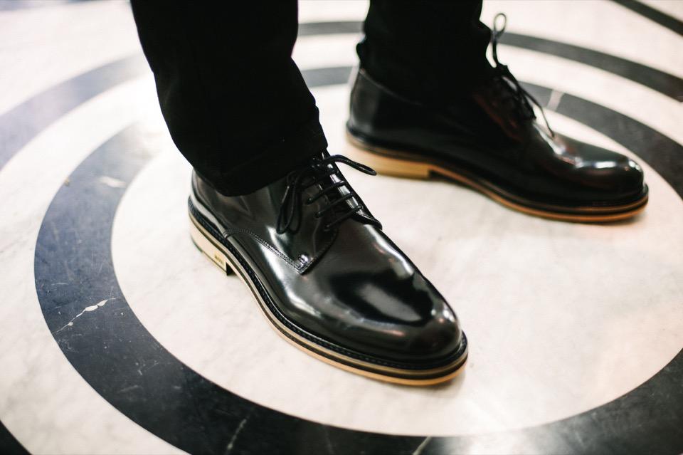 chaussures ami cuir noir