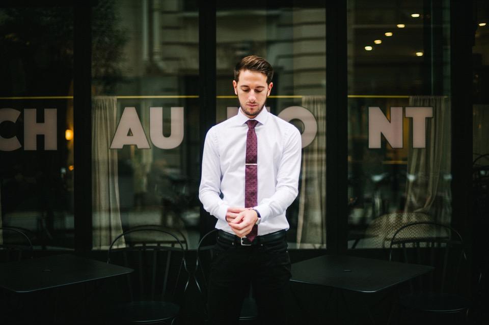 le chemiseur chemise blanche cravate paris