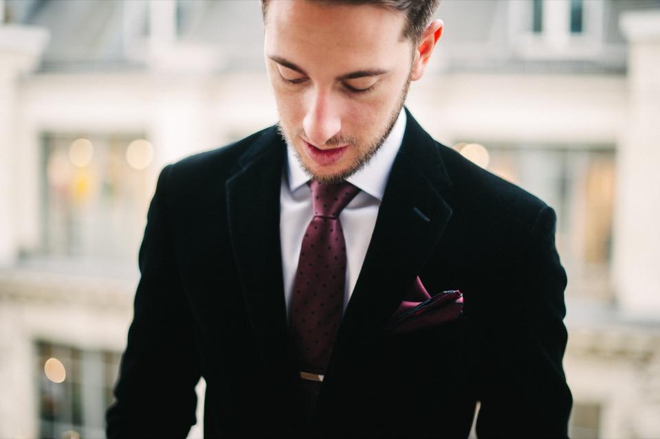 veste velours noir chic paris