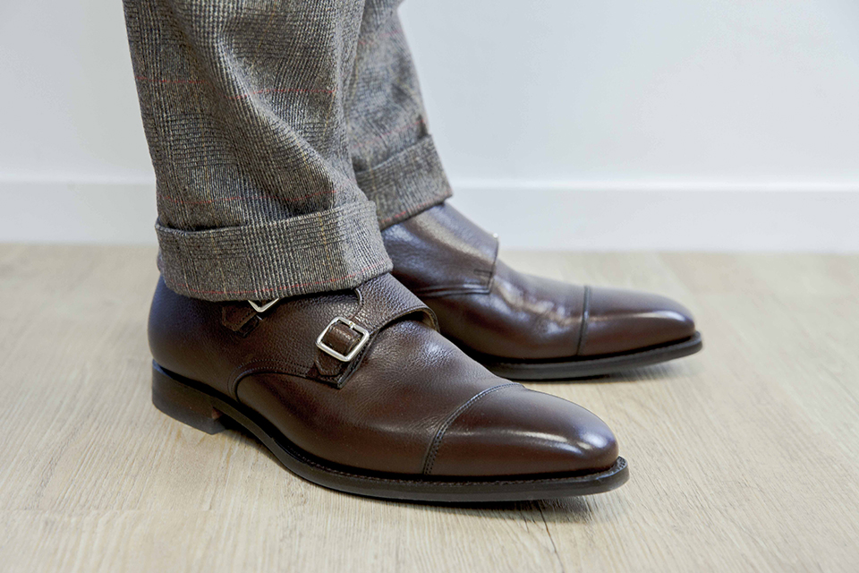 Double boucle Crockett & Jones Look Tweed Profil