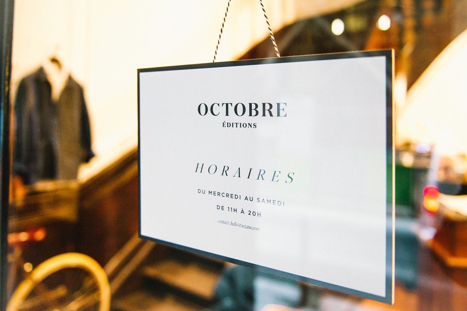 horaires boutique octobre editions
