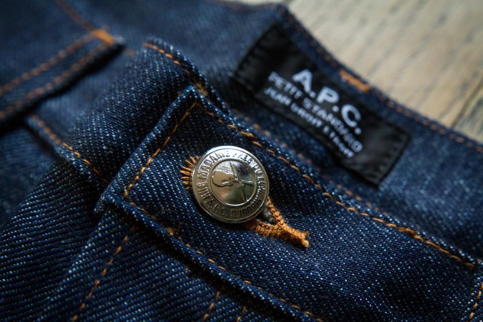 Jeans APC bouton argenté