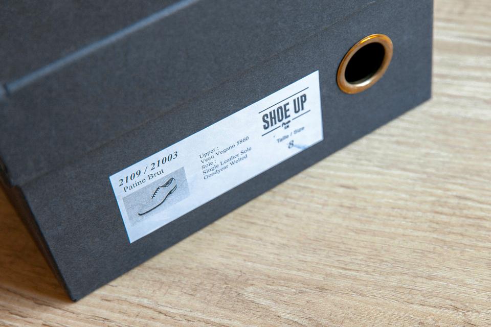 Boite étiquette Shoe up