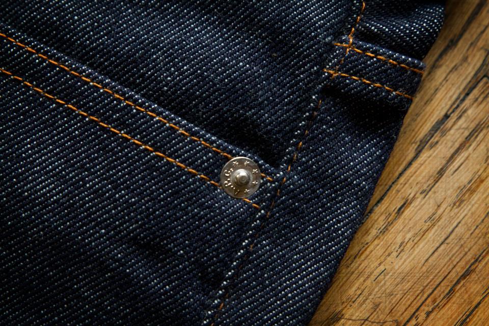 Rivet metal jeans APC
