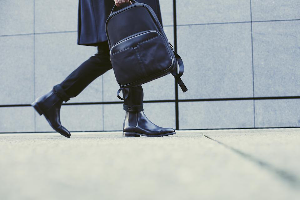 sac a dos cuir noir homme