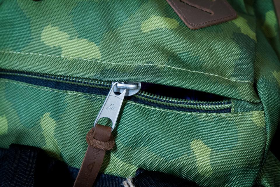 zip sac poler tirette cuir